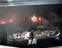 EV on fire