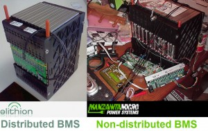 Distributed vs non-distributed BMS